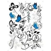Узор с голубыми бабочками