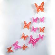Бабочки горошек 3D