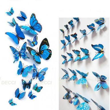 Бабочки лазурь 3D
