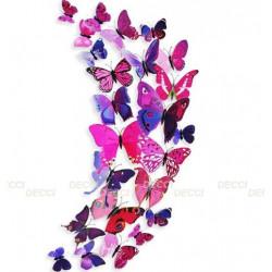 Бабочки лиловый 3D