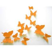 Бабочки оранжевый 3D