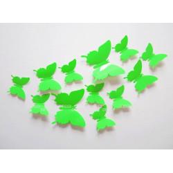 Бабочки светло-зеленый 3D
