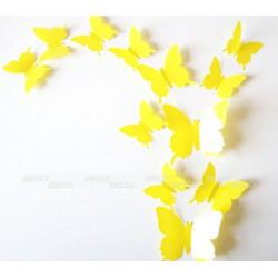 Бабочки желтый 3D