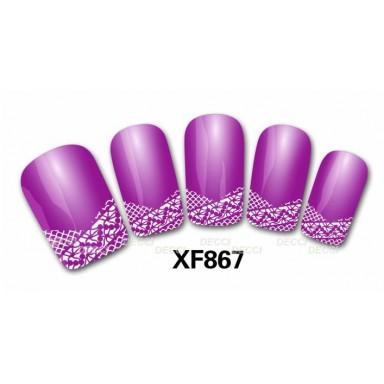 Наклейка френч на ногти 867