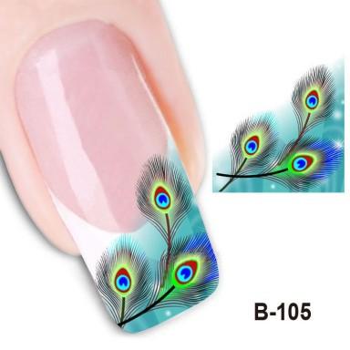 Водная наклейка на ногти  105