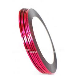 Лента  для ногтей, розовый коралловый