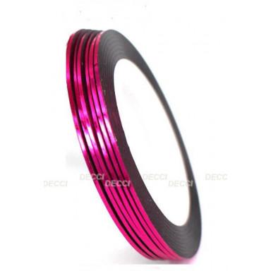 Лента  для ногтей, ярко-розовый
