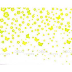 Цветочная россыпь, желтый