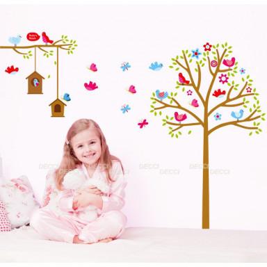 Наклейка на стену Алая весна