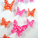Наклейка на стену Бабочки горошек 3D
