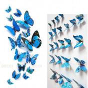 Бабочки с магнитом 3D, лазурь