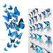 Наклейка на стену Бабочки лазурь 3D