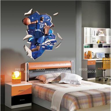 Наклейка на стену Баскетбол, 3d эффект