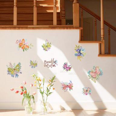 Наклейка на стену Коллекция бабочек