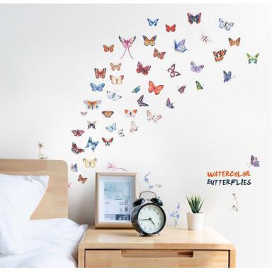 Наклейка на стену Акварельные бабочки