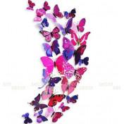 Бабочки с магнитом 3D, лиловый
