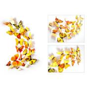 Бабочки с магнитом 3D, желтый