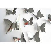 Бабочки серебристый 3D