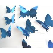 Бабочки синий 3D