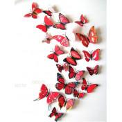 Бабочки с магнитом 3D, красный наклейка 3d