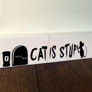 Наклейка на стену возле выключателя Норка Кошкам нет
