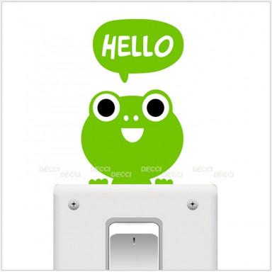 Наклейка на стену Лягушонок hello