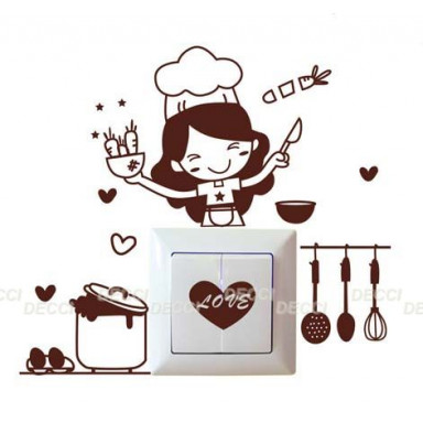 Наклейка на стену Люблю готовить