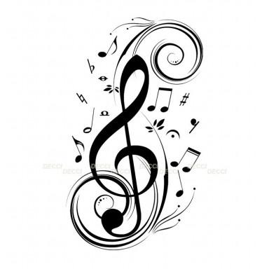 Многофункциональная наклейка Музыка