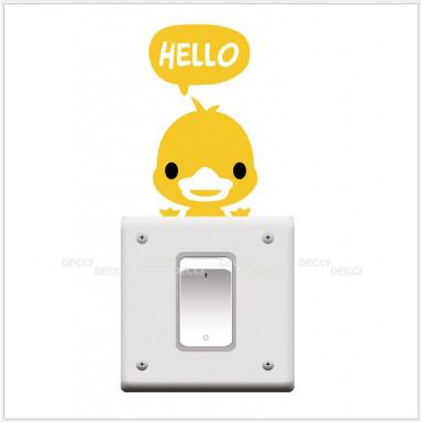 Наклейка на стену Утенок hello
