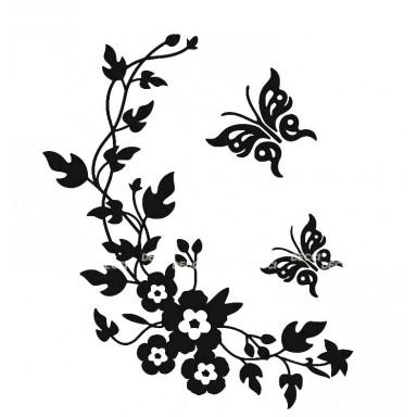 Виниловая наклейка Веночек черный
