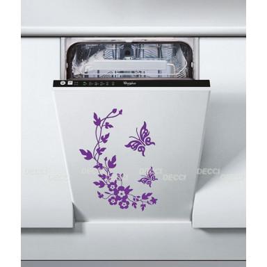 Виниловая наклейка Веночек фиолетовый
