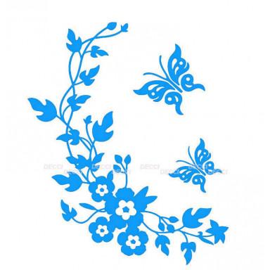 Виниловая наклейка Веночек голубой