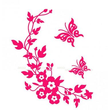 Виниловая наклейка Веночек розовый*