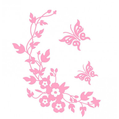 Виниловая наклейка Веночек розовый