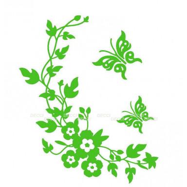 Виниловая наклейка Веночек зеленый*