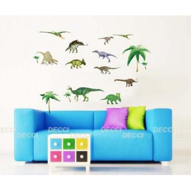 Наклейка на стену Динозавры 2