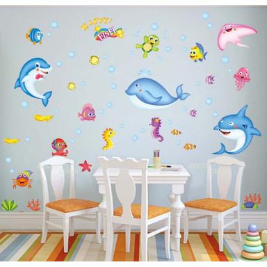Наклейка на стену Дельфины