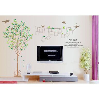 Наклейка на стену Дерево с фото 2