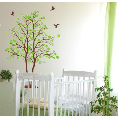 Наклейка на стену Два деревца