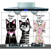 Фартук Черно-розовые кошки