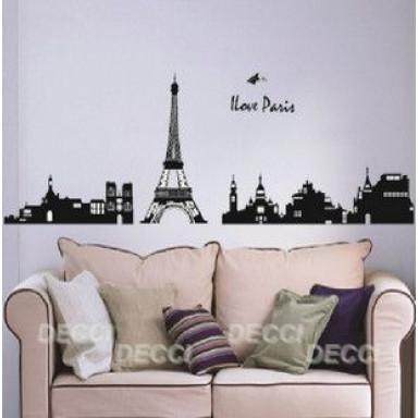 Наклейка на стену Город Париж