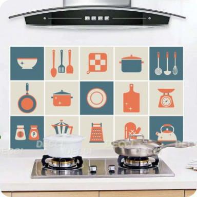 Наклейка на стену Фартук Посудка