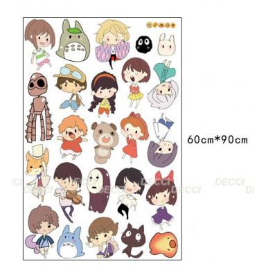 Наклейка на стену Герои японских мультфильмов