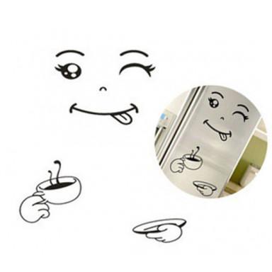 Многофункциональная наклейка Холодильник Чашечка кофе