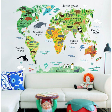 Наклейка на стену Карта