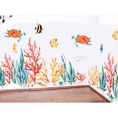 Наклейка на стену Кораллы