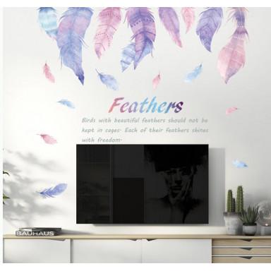Наклейка на стену Красивые перья