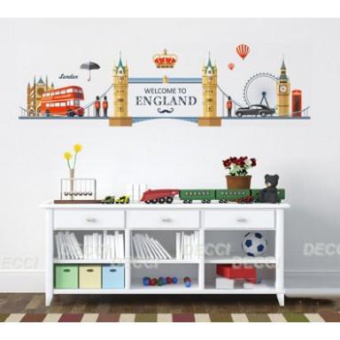 Наклейка на стену Красота по-британски
