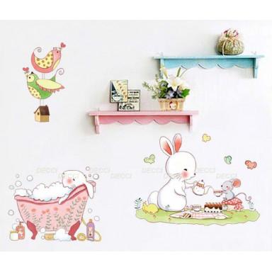 Наклейка на стену Кроличья семейка