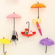 Крючки-зонтики, розовый-желтый-красный